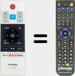 Replacement remote control for CT-8529 (30099678)